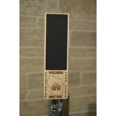 Wide rectangle tap handle - laser engraved