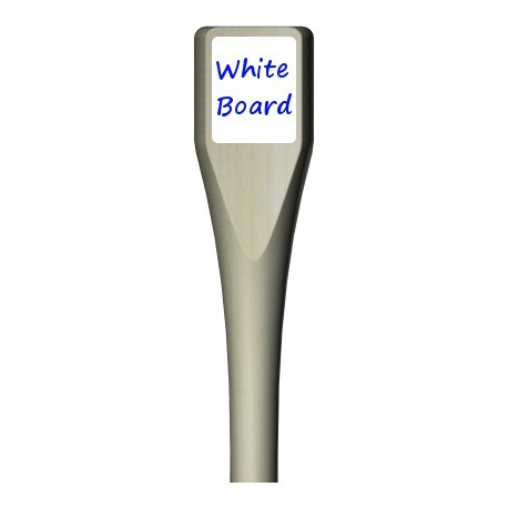 Large paddle with white/chalk board