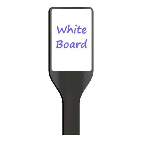 Custom tapered paddle with white/chalk board
