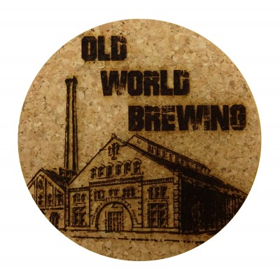 Round Cork Coaster - Laser Engraved