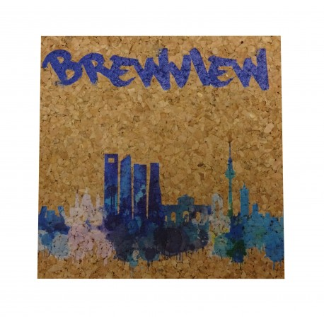 Custom Square Cork Coaster - Full Color