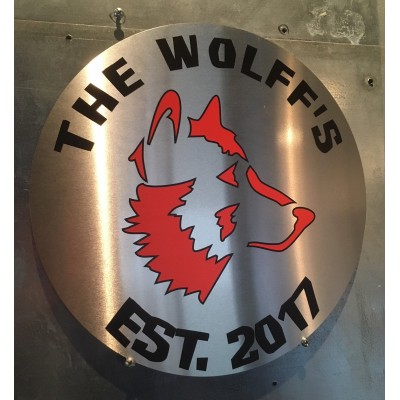 "Custom 12""Circle Aluminum Bar Sign"