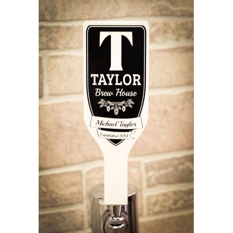 Custom Monogram Tap Handle Tapered Paddle