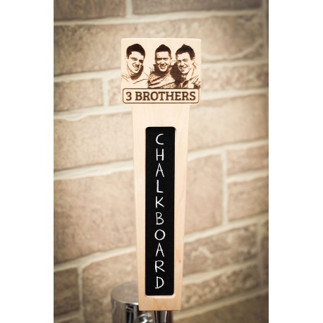 Custom Name Tap Handle with Rectangle Top with Photo