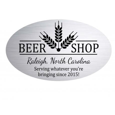 Oval Beer Shop Sign