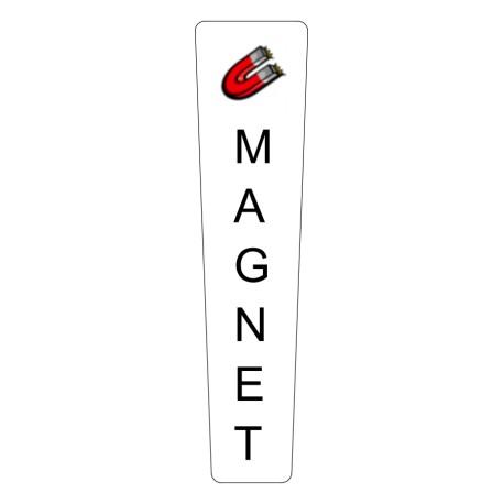 Tapered custom printed tap handle magnet