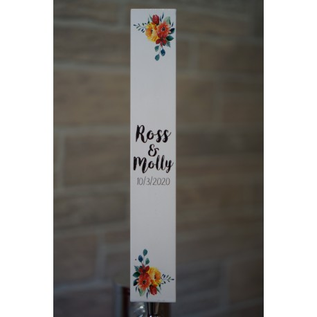 Wedding Floral Square Tap Handle
